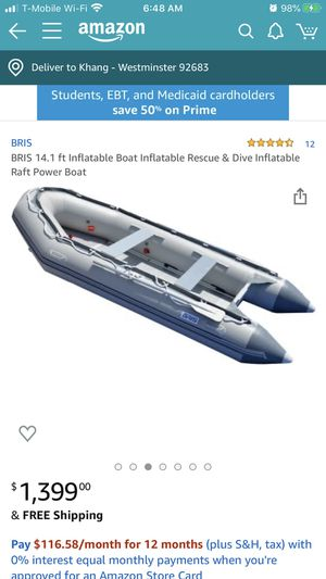 14.1 ft inflatable boat / dinghy *brand new in box* for Sale in Huntington Beach, CA
