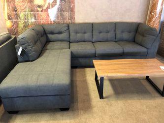 Gray fabric sleeper sectional sofa on sale for Sale in Phoenix,  AZ