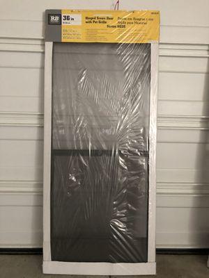 36 x 80 black hinged screen door for Sale in Pomona, CA