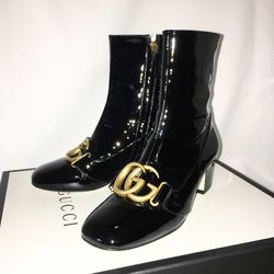 Gucci Patent Ankle Boots With Double G for Sale in Los Angeles,  CA