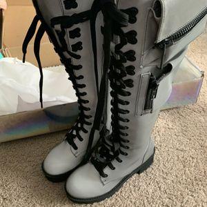 Dollskill Reflective Combat Boots Sz. 7M Women's for Sale in Vernon, CT