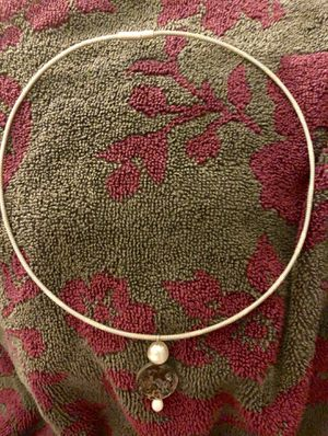 Pearls, silver and abalone necklace for Sale for sale  Greensboro, NC