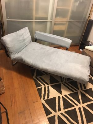 Light blue futon chaise for Sale in Seattle, WA