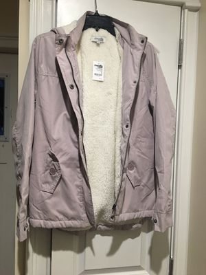 Sherpa lined lilac jacket with hood for Sale in Bronx, NY