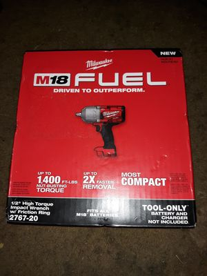 "Milwaukee - 1/2"" High Torque Impact Wrench w/ Friction Ring for Sale in Eugene, OR"