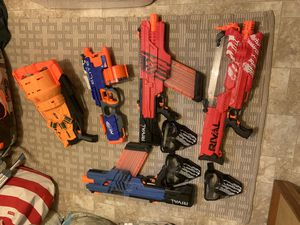 NERF toy guns w/ masks for Sale in Durham, NC