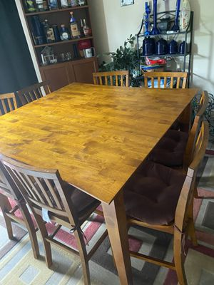 Steve Silver Abaco Counter Height Dining Table set w/extra leaf (negotiable) for Sale in North East, MD