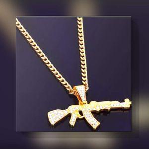 AK 47 Chain Gold colored / Diamond cuban style for Sale in Vancouver, WA