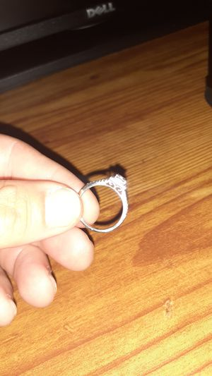 New size 7. 14k white gold womens ring for Sale in Tacoma, WA