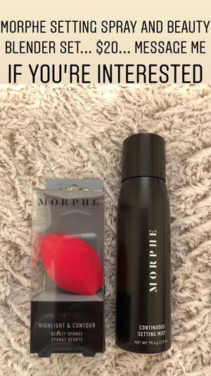 Morphe Setting Spray and Beauty Blender Set for Sale in Phoenix, AZ