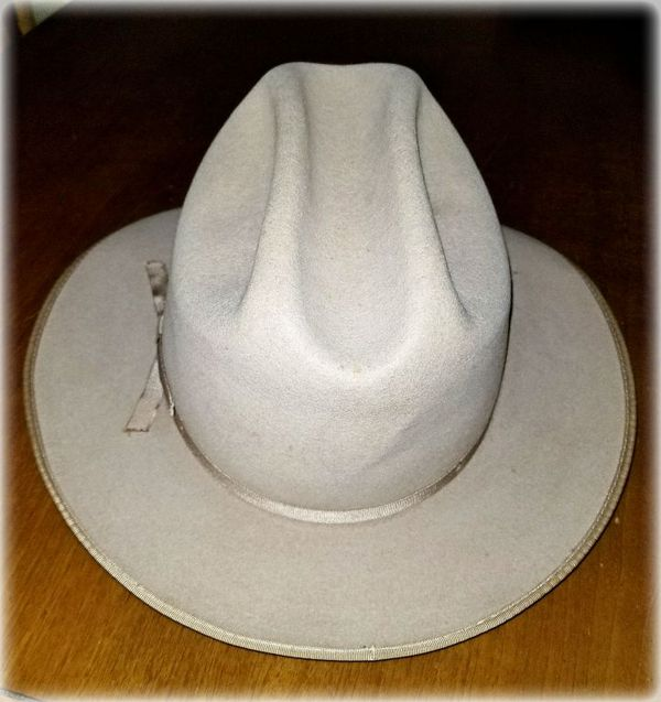 Vintage Stetson 4X Beaver Felt Open Road Silverbelly Cowboy Hat ... 66434cb1afe