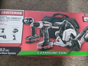 Craftsman 4 piece combo tool kit pickup from 5515 118th street price is firm for Sale in Jacksonville, FL
