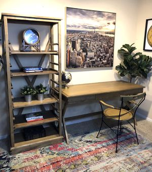 3 piece World Market Office Desk Set- shelf, Desk, and Chair retail $800 for Sale in San Diego, CA