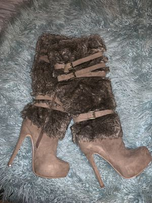 Faux fur boots for Sale in Springfield, VA