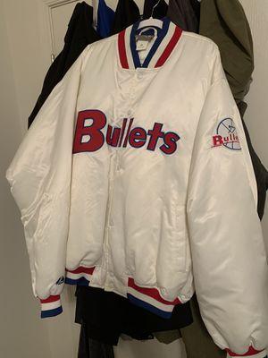 NBA Bullets 90's Vintage Jacket for Sale in Odenton, MD