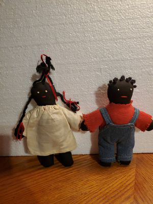 Primitive Folk Art Antique Black Americana 2 Rag Dolls for Sale in Rocky Mount, NC