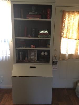 Vintage Shabby Chic Combo Book Hutch/Kitchen, Side Table, & Suitcase for Sale in Redding, CA