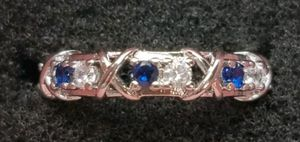 Sterling Silver Cz and Sapphire Wedding Band Style for Sale in Baltimore, MD