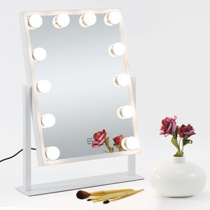 Lighted Cosmetic Vanity Mirror Hollywood Style Makeup w/Dimmable Touch Control for Sale in Los Angeles, CA