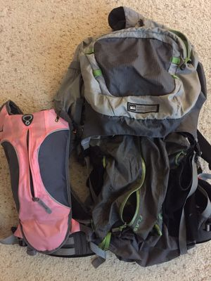REI backpacking back pack and camelback for Sale in Los Angeles, CA