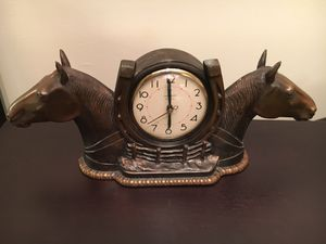 Ingraham Carmody Double Horsehead Clock for Sale in Buckhannon, WV