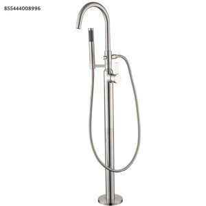 LUXIER Modern Freestanding Single-Handle Floor-Mount Roman Tub Faucet Filler with Hand Shower in Brushed Nickel for Sale in Dallas, TX