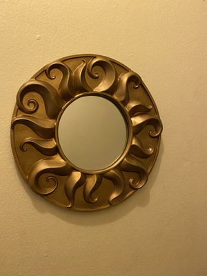 Set of 2 heavy sun wall mirrors for Sale in Franklin, MA
