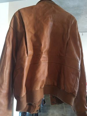 Men's leather jacket. Size 40. Camel/Carmel colored for Sale in Austin, TX