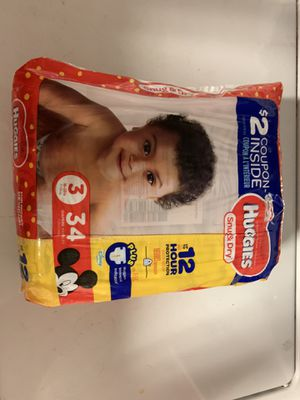 Huggies Diapers Size 3 (34 count) for Sale in Orlando, FL