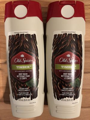 Pair of Old Spice Fresher Timber Body Wash for Men for Sale in Austin, TX