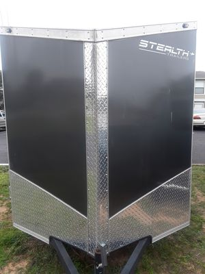 Enclosed 6 x 10 titan stealth trailer, like new bought new in July 2017, just used it to move to Florida. for Sale in Gulf Breeze, FL