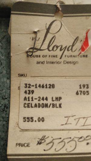 Celadon blk lamp for Sale in La Jolla, CA
