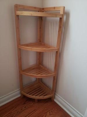 Corner Bamboo Shelf for Sale in Westland, MI