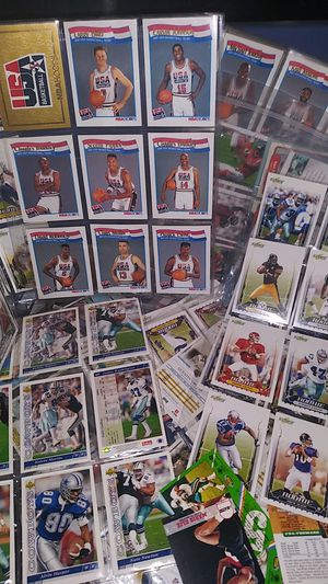 A tub full of baseball and football cards for Sale in Irving, TX