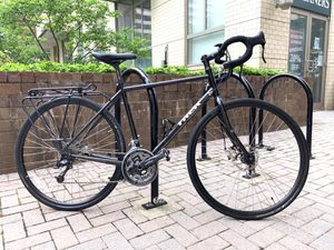 2015 Trek 520-disc Touring Bicycle (Size 54-inch) Cosmic Black Bike with Rack for Sale in Arlington, VA