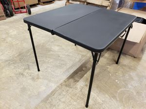 """34"""" Resin Plastic Top Fold-in-Half Table. $28 FIRM each, 3 available for Sale in Redlands, CA"""
