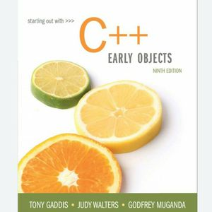 Starting Out With C++ Early Objects 9th Edition Tony Gaddis 9780134400242 eBook PDF FREE instant delivery for Sale in Diamond Bar, CA