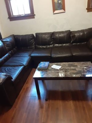 Two-piece sectional couch couch Had it for almost a year only selling it cause I'm moving out of town for Sale in Milwaukee, WI
