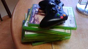 9 xbox 360 video games and controller for Sale in Troy, NY