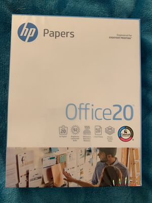 "NEW! Printer Paper 8.5"" x 11"" Office 20 by HP 500 sheets for Sale in St. Louis, MO"