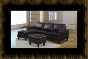 Black sectional with ottoman for Sale in Rockville, MD