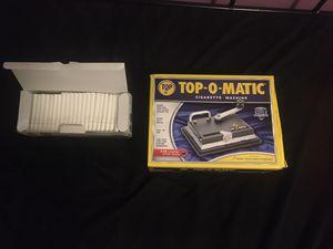 BRAND NEW Top-O-Matic Cigarette Machine + Box of cigarette shells for Sale in Indianapolis, IN