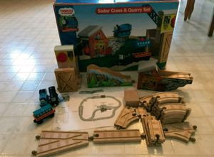 Thomas & Friends Wooden Railway Sodor Crane & Quarry Set for Sale in Salunga, PA