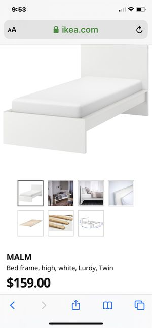 IKEA Malm bed frame white with slats (MATTRESSES AND LINENS MOT INCLUDED) excellent condition $65each for Sale in Chula Vista, CA