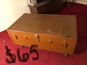 Antique chest coffee table for Sale in Portland, OR