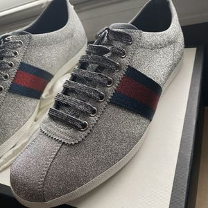 Gucci Bambi Web Silver Glitter Like New Men 9.5 for Sale in College Park, GA