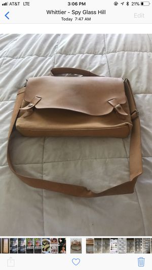 Men's Messenger Bag With Shoulder Strap - Perfect Laptop Case for Sale in Whittier, CA