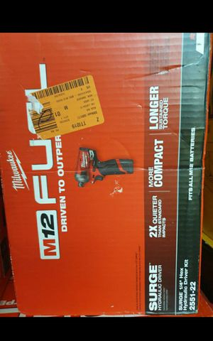 MILWUAKEE M12 FUEL BRUSHLESS SURGE SPEED IMPACT DRIVER TOOL ONLY BRAND NEW for Sale in San Bernardino, CA