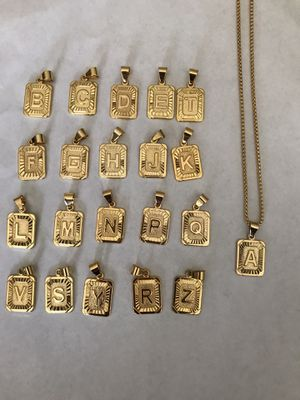 New 18k gold plated letter chain necklace for Sale in Cumming, GA