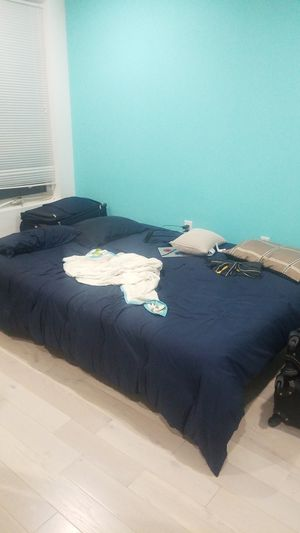 Queen sized bed mattress and bed frame for Sale in Philadelphia, PA